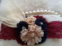Burgundy Headband/Fall Headband/Flower Girl Headband/Infant Headband/Baby Headband/Newborn Headband/Toddler Headband/Girl Headband