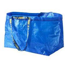 IKEA - FRAKTA, Grand sac, , Nettoyage facile -  rincer à l'eau et laisser sécher.Se replie à plat pour un gain de place.Peut aussi servir pour le tri des déchets.