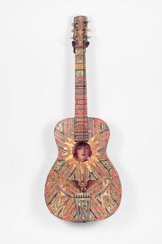 FJC_0811 Felipe Jesus Consalvos - Untitled (Guitar with Rah Rah Rah verso) (a)