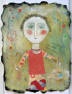 Some Days Are Better than Others©BarbaraOlsen Mixed Media on Twinrocker paper