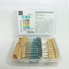 1 Box 10 Ohm Resistance Metal Film Resistor Resistance Assortment Kit Set 30 Kinds Each Light Emitting Diode, Kit, Metal, Metals