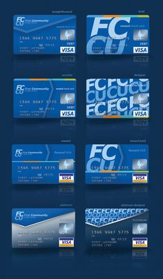 Card Designs for First Community Credit Union by JP Cozby, via Behance