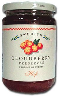 Cloudberry preserves! Thinking of these since it's Andreas Viestad's birthday...must order sometime soon or look for similar jam next trip to IKEA