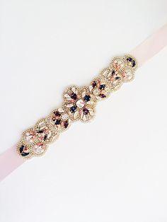 Swarovski Crystal Bridal Belt-Vintage Wedding-One of a Kind Hand Stitched
