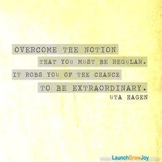 Great quote from Uta Hagen