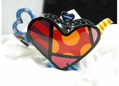 Romero Britto Teapot Heart Design 339042 New | eBay