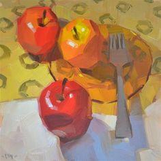 """Three Different Apples"" - Original Fine Art for Sale - © Carol Marine"