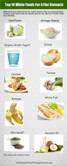 Food for Flat Belly - Healthy White Foods (health snacks flat belly) Old Husband Uses One Simple Trick to Improve His Health Flat Stomach Foods, Flat Tummy Diet, Health Snacks, Diet Snacks, Diet Meals, Health Eating, Junk Food, Detoxify Your Body, Keto