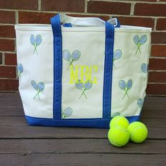 The perfect tote, on or off the courts. www.sembroidered.com
