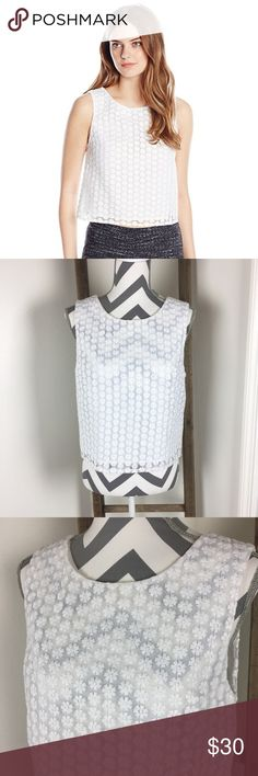 SAM EDELMAN embroidered daisy crop top This top is in excellent like new condition! Shell: 100% polyester. Lining: 95% polyester 5% spandex. 19 1/2 inches across the bust. 20 inches long. Non-smoking pet free home.                                                                         🔹suggested user🔹fast shipper🔹                                    🔸bundle to save 15%🔸300+ items🔸 Sam Edelman Tops Crop Tops