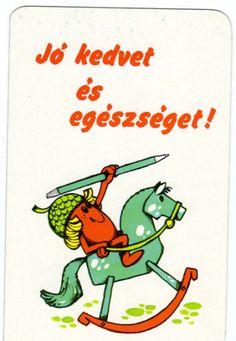 1983 | Kártyanaptárak - Országos Egészségügyi Felvilágosítási Intézet - Makk Marci Illustrations And Posters, Funny Cards, Retro Posters, Hungary, Budapest, Calendar, Vintage, Poster, Illustrations Posters