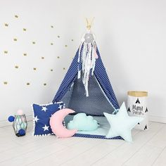 Zoomie Kids Teepee takes you to the wonderland of fun, joy and happiness. It can be a place for morning tea with mum, daily play with friends and evening books reading with dad. Playing in teepee develops kid's imagination and creativity. Mat Included: No Girls Bedroom Furniture, Kids Furniture, Furniture Design, Kids Play Teepee, Small Cafe Design, Toddler Rooms, Toddler Bed, Teen Bedroom Designs, Kids Room Design