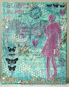 Layers of ink: Mixed-Media Tissue Canvas Tutorial