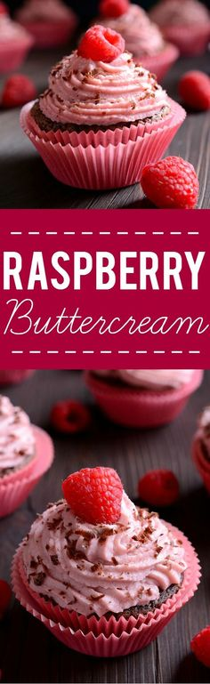 Raspberry Buttercream Frosting Recipe - Sweet and tangy raspberry buttercream recipe is easy to make and is the perfect finishing touch for your favorite cake or cupcakes! Cake Filling Recipes, Frosting Recipes, Cupcake Recipes, Dessert Recipes, Frosting Tips, Frosting Techniques, Raspberry Buttercream Frosting, Buttercream Recipe, Easy Desserts