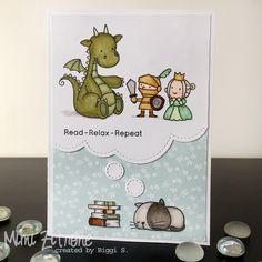 Mit drei von meinen süßen Sets von My Favorite Things habe ich einen Karten-Gruß für eine Freundin gemacht, die leidenschaftlich gerne liest...