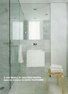 Modern bathroom with glass partition AND SINK