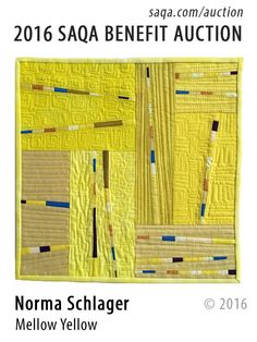 """Mellow Yellow"" - art quilt by Norma Schlager"