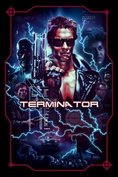 『ターミネーター』The Terminator Movie Poster Madness - Poster Artworks A-Z Best Movie Posters, Classic Movie Posters, Horror Movie Posters, Cinema Posters, Movie Poster Art, Horror Movies, Sci Fi Films, Cult Movies, Arnold Schwarzenegger Movies