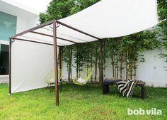 Ideas For Diy Outdoor Privacy Shades Backyard Shade, Outdoor Shade, Patio Shade, Backyard Privacy, Canopy Outdoor, Pergola Shade, Diy Pergola, Outdoor Rooms, Backyard Patio