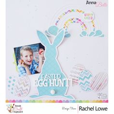 Doodlebug Hoppy Easter layout Easter Egg Hunt by Rachel Lowe - Doodlebug Hoppy Easter layout Easter Egg Hunt Hey all Rachel here and today I am starting off with my first share using the super cute Easter Hoppy Easter, Easter Bunny, Easter Eggs, Craft Cupboard, Cupboard Design, Anna Craft, Egg Hunt, Silhouette Design, Lowes