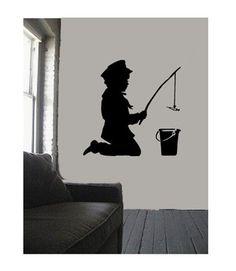 Banksy Wall Art, Childrens Bedroom Decor, Wall Decals, Fisher, Decoration, Boys, Ideas, Decor, Baby Boys