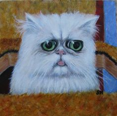 I painted a floof from Outer Space Outer Space, Owl, Photo And Video, Bird, Chipotle, Animals, Instagram, Paintings, Cat Breeds