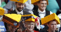 Delegates from Wisconsin gather during the final day of the Democratic National Convention. (AP)