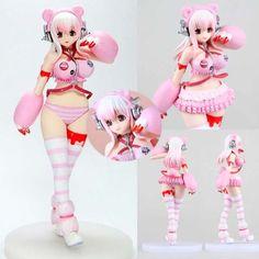 Super-Sonico-Cosplay-Gloomy-Bear-Race-Racing-Queen-Genus-Figure-Figurine-17cm