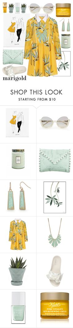 """""""stay golden"""" by nineseventyseven ❤ liked on Polyvore featuring La Perla, Voluspa, Rebecca Minkoff, New Directions, Fendi, Chive, Puma, The Hand & Foot Spa, Kiehl's and Yves Saint Laurent"""
