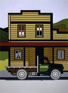 Title: Mangaweka Artist/creator: Robin White Production date: 1974 Medium: screenprint Dimensions: 597 x 435 mm