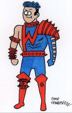 Fred Hembeck Color Sketch Card: Wonder Man, Force Works (Avengers/Marvel)1/1