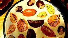 Ceramic Painting Motif: Mixed nuts. Geoff Graham, Cinnabar Ceramics, Vallejo, CA