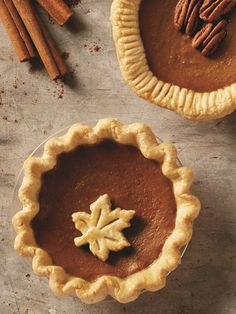 These adorable mini dairy-free pumpkin pies make for fun individual desserts for smaller Thanksgiving gatherings. This recipe does use eggs.