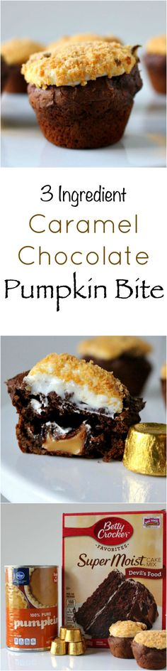 3 ingredient Caramel Chocolate Pumpkin Bite