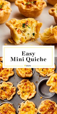 Recipe: Easy Mini Quiche Cups These mini quiches are the perfect brunch item for a crowd or great for meal prepping ahead of time for breakfast for the week. These have cheese and bell pepper but you can make any filling that you want. Mini Quiches, Mini Sweet Peppers, Stuffed Sweet Peppers, Quiche Sin Gluten, Quiche Cups, Mini Egg Quiche, Muffin Tin Quiche, Puff Pastry Quiche, Mini Breakfast Quiche