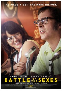 Directed by Jonathan Dayton, Valerie Faris. With Emma Stone, Andrea Riseborough, Steve Carell, Elisabeth Shue. The true story of the 1973 tennis match between World number one Billie Jean King and ex-champ and serial hustler Bobby Riggs. Streaming Movies, Hd Movies, Movies To Watch, Movies Online, Movie Tv, Elisabeth Shue, Natalie Morales, Billie Jean King, Steve Carell