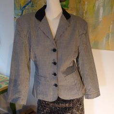 Feminine gorgeous cotton plaid jacket by Jacob from by vintagerita, $29.00