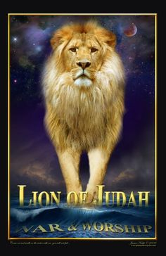 War and Worship Lion of Judah - art by James Nesbit