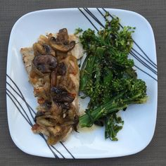 #mealprepsunday's dinner of #panseared #ovenfinished #porkchops w/ sautéed #mushrooms and #onions w/ #lemongarlic #broccolini #realfood #lowcarb #foodporn #instafood #foodpic #foodgram #foodgasm #healthy #nomnomnom by imaginegusgus71