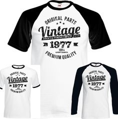 06b17e4192c Vintage Year 1978 Premium Quality Mens 40th Distressed Birthday T-Shirt  Present
