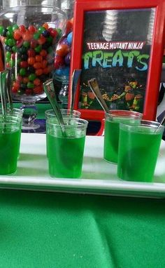 Teenage Mutant Ninja Turtle Birthday Party treats! See more party planning ideas at CatchMyParty.com!