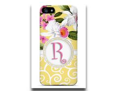 Personalized Cell Phone Case. Yellow by TheGirlyGirlCaseShop