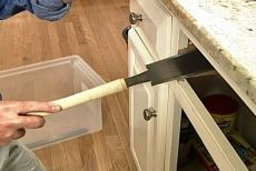 Step by Step Instruction on How To Convert a Kitchen Drawer & Cabinet to a Pull Out Trash Can