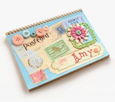 Learn how to make a vintage inspired notebook using Mod Podge - add your favorite vintage ephemera and embellishments!