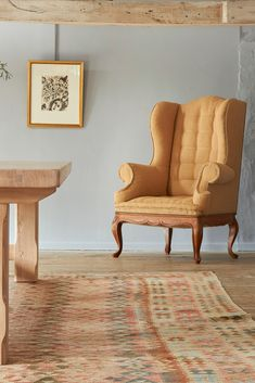 An upholstered French style oak wing chair, available in range of fabrics and wood finishes, from £2,750 French Oak, Wing Chair, French Style, Wingback Chair, Bespoke, Accent Chairs, Wings, Fabrics, Wood