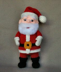 Santa Claus Crochet Doll by WolfDreamer | Crocheting Pattern - Looking for a crocheting pattern for your next project? Look no further than Santa Claus Crochet Doll from WolfDreamer! - via @Craftsy