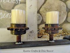 Candle+Holders+Made+From+Garage+Parts...