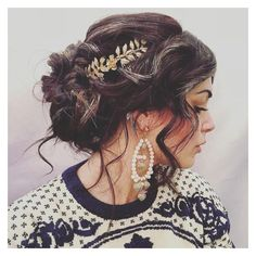 Greek Goddess hair style ️ #hair #hairstyle #gold ❤ liked on Polyvore featuring accessories and hair accessories