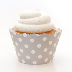 Gray Polka Dots Cupcake Wrapper - Set of 12 - Polkadot Liners Wrap and Coordinate w/ Cup Cake Topper or Pick ** New offers awaiting you  : Baking desserts tools