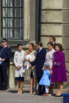 (L-R) Ms Sofia Hellqvist, Princess Madeleine and Princess Elonore , Prince Daniel, Crown Princess Victoria, Princess Estelle, Queen Silvia are seen during the celebration of the King's birthday at Palace Royale on 30.04.2015 in Stockholm, Sweden.